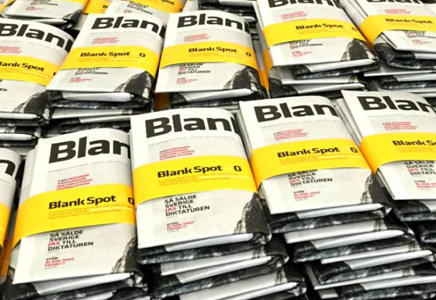 Blank Spot Project - papperstidningar